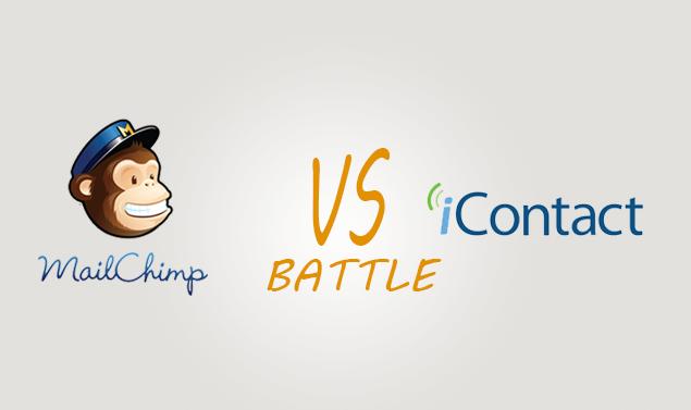 Mailchimp vs Icontact Comparison